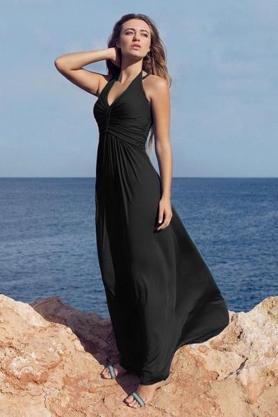 Halter jurk Natural