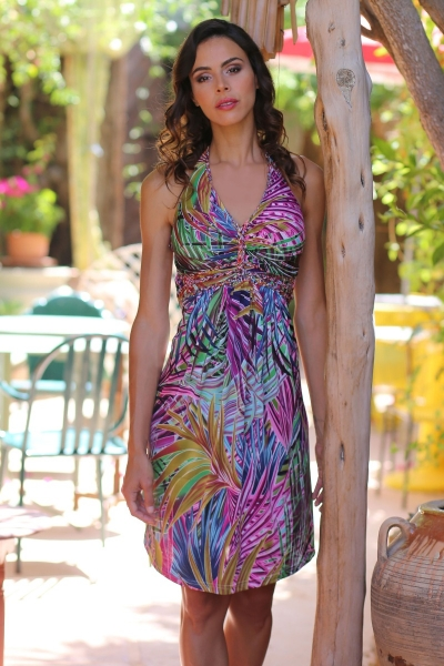 Korte halter jurk Avellana
